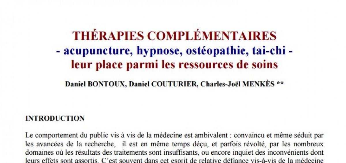 rapport académie de medecine